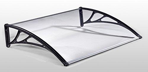 action classic vordach 150 x 100 cm schwarz haust rdach haust r pultvordach haust r kunststoff. Black Bedroom Furniture Sets. Home Design Ideas