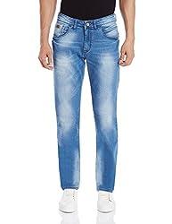 Monte Carlo Men's Slim Fit Jeans (2160871474Dn_32W x 34L_Dark Blue)