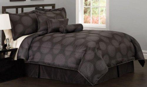 Circle Dot Queen Comforter Set with Bonus Pillows