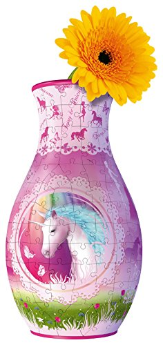 Ravensburger-Royaume-Uni-12104-Puzzle-3D-Collection-Licornes-Vase-Puzzle-3D-216-piece
