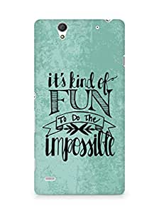 AMEZ its kind of fun to do the impossible Back Cover For Sony Xperia C4
