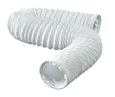 Dundas Jafine FD420ZW Flexible White Vinyl Duct 4-Inches by 20-Feet New Free