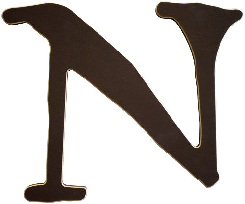 New Arrivals The Letter N, Chocolate Brown