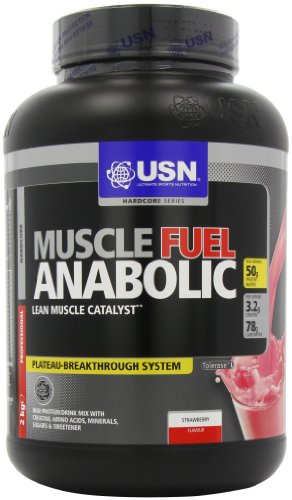 USN Muscle Fuel Anabolic 2000 g Strawberry Lean Muscle Gain Shake Powder