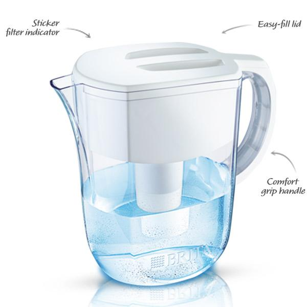 Water filter pitcher brita filtration system purifier 10cup healthy clean glass ebay - Glass filtered water pitcher ...