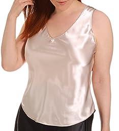 Farr West Emily Charmeuse Plus Size Camisole (323) 1X/Mink