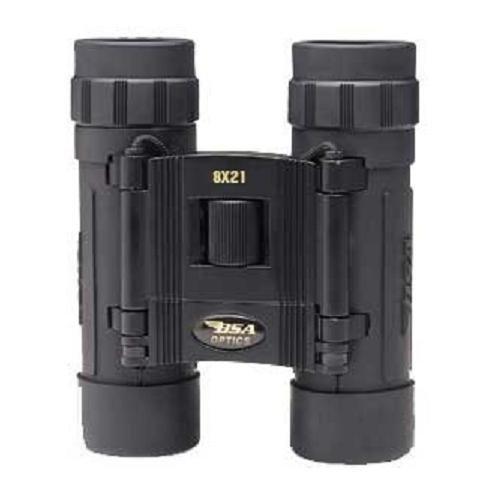 Bsa 8X21Mm Compact Binoculars, Rubber-Coated