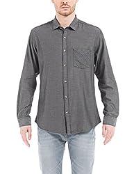 Shuffle Men's Casual Shirt (8907423019133_2021515602_Medium_Grey)