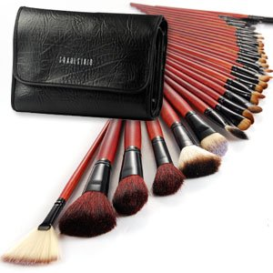 Fraulein38 31 Pcs Makeup Cosmetic Make up Brushes red handle Set