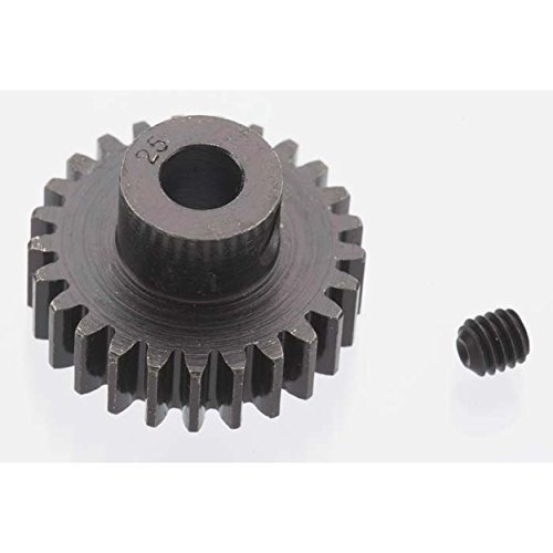 Extra Hard 25 Tooth Blackened Steel 32p Pinion 5mm