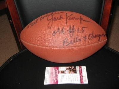 Jack Kemp Autographed Football - Old 15 Afl Jsa coa - Autographed Footballs
