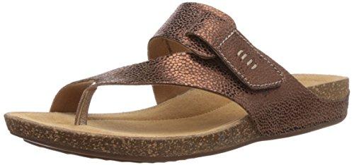 Clarks Perri Coast, Infradito donna, Marrone (Braun (Bronze Metallic Leather)), 40
