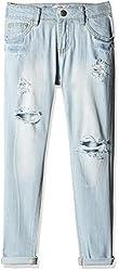 Fox Girls' Jeans (Light Jeans_14 Y_819177)