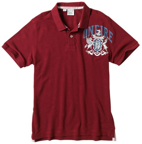 Onfire Mens Slub Polo Red Size Medium