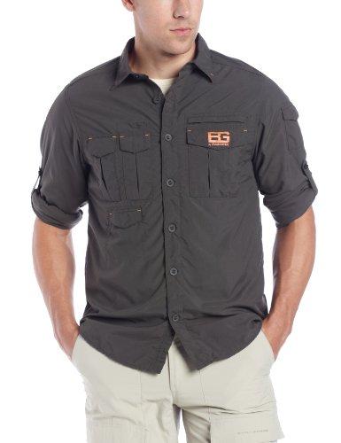 Bear Grylls Men'S Bear Adventure Long Sleeve Shirt, X-Large, Dark Khaki front-90299