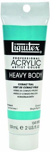 Liquitex Professional Heavy Body Acrylic Paint 2-Oz Tube, Cobalt Teal