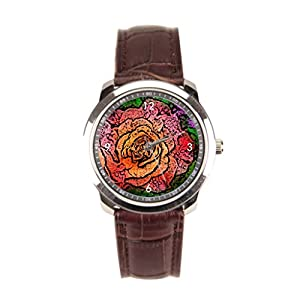 sanYout Buy Wrist Watch Pink Leather Watch Mens Effect Mens Watch Leather Strap Jamfoto