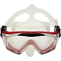 Magideal Adjustable Kids Adults Diving Mask Googles Snorkeling Scuba Diving Gear Red