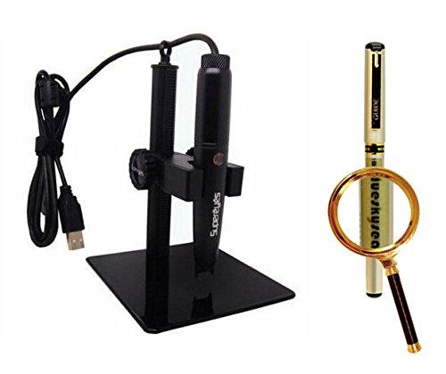 Blueskysea Free Gift Gel Pen + Supereyes B008 5.0Mp 500X Handheld Usb Digital Microscope Loupe Magnifier +Stand