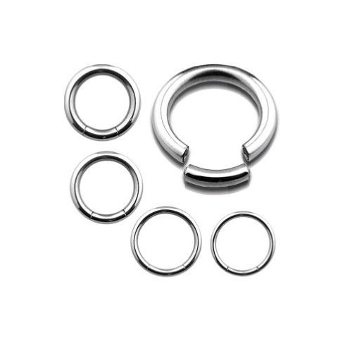 Piercing Boutique Surgical Steel Segment Ring Nose / Eyebrow / Labret - 1.2mm (16g) x 12mm Diameter