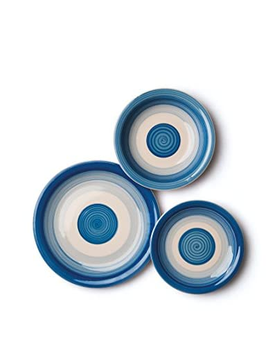 geschirr set 18 teilig circle blau mode fly top mode und styles. Black Bedroom Furniture Sets. Home Design Ideas
