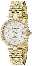 Armitron Women's 75/5214MPGP Swarovski Crystal Accented Gold-Tone Bracelet Watch