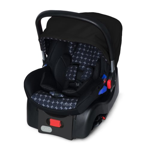 JJ Cole Newport Car Seat, Black/Gray Drops