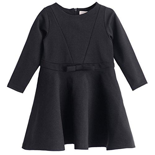 enchante petit(アンシャンテ プティ) キッズ 子供 ウエストリボン長袖フォーマルワンピース 140cm #ブラック