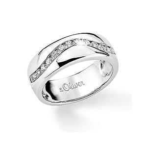 s.Oliver Damen-Ring Silber 925  Gr.52 400749