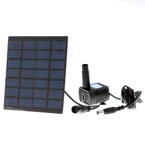Energy Controllers Solar Power Panel Garden Fountain Pond Pool Water Pump Garden Plants Watering Submersible solar powered charger (Solar Panel Pond Heater compare prices)