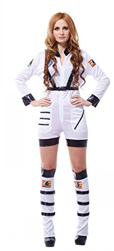 Treasure-box Adult Womens Astronaut Costume Halloween Two Color