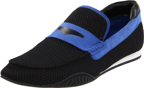Donald J Pliner Men's Dulse Slip-On, Black/Cobalt, 12 M