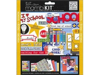 Me and My BIG Ideas PK-273 8-Inch by 8-Inch Scrapbook Page Kit, I Heart My School