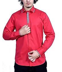 Bucci Men's Casual Shirt _bc110l_Red_L