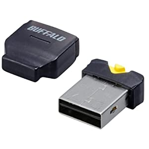 BUFFALO カードリーダー/ライター microSD対応 超コンパクト ブラック BSCRMSDCBK