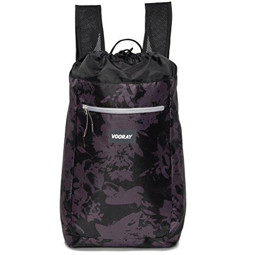 vooray-stride-16l-cinch-drawstring-backpack-ghost-floral-black