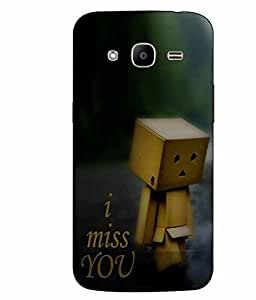 Snazzy Miss You Printed White Hard Back Cover For Samsung Galaxy J2 2016 Edition / J2 Pro