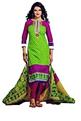 Saad Creations Women's Cotton Unstitched Dress Material_BLR1309_Multicolored_Freesize
