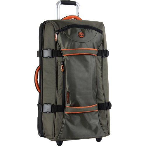 Timberland Luggage Twin Mountain 26 Inch Wheeled Duffle, Burnt Olive/Burnt Orange, One Size