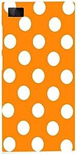 Snoogg Yellow Polka Dot Case Cover For Xiaomi Mi 3