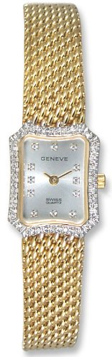 Geneve Kalle 14k Solid Gold Diamond Womens Watch W1250