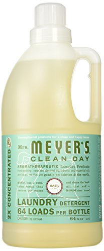 Mrs. Meyer's Basil Laundry Detergent 2x Concentrated, Basil 64 fl oz
