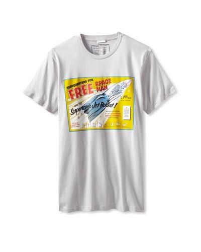 Killer Tees Men's Free Spaceman Robot Ringspun Tee  [White]