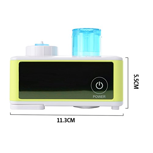 Xcellent Global Mini Ultrasonic Humidifier For Travel & Home Design With Auto Safety Support, Green (Bottle include) F-HG047 - 1