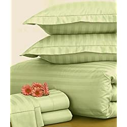 Charter Club Damask Stripe 500T Palmetto Full/Queen Duvet Cover