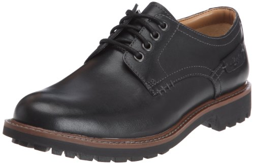 Clarks - Montacute Hall, Scarpe con lacci Derby da uomo, Nero (Black Leather), 45