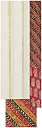 Laxmi Creations Women's Cotton Unstitched Dress Material (Off White)