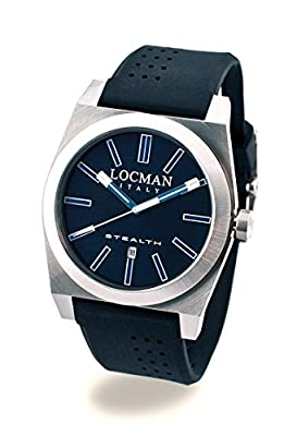 Locman Stealth Men``s 020100bkfbw1sik Stainless S