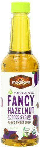 Madhava Organic Fancy Hazelnut Coffee Syrup, Agave Sweetened, 9.9 Ounce (Pack Of 6) By Madhava Natural Sweeteners