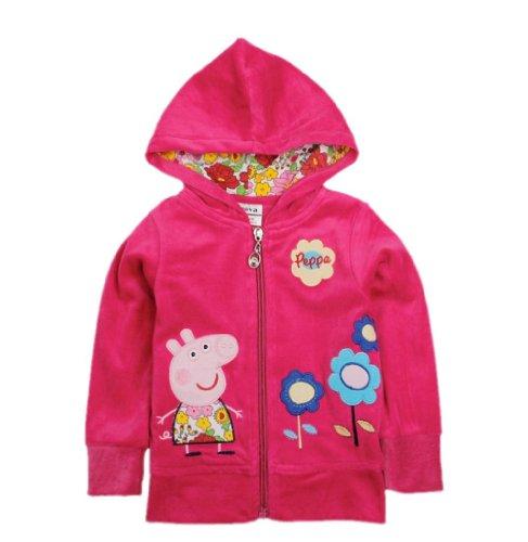 Peppa Pig Beautiful Peppa Pig Girl Spring Autumn New Hoody Jacket,Red,4Y